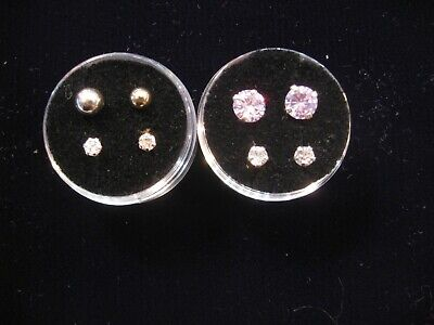 Child Screw Back Earring Stones/Silver Balls 3 Telephone Styles to choose from!!