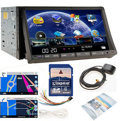 "SALE 7"" HD LCD IN-DASH CAR STEREO GPS SAT CAR DVD PLAYER RADIO 2DIN NAVIGATION"