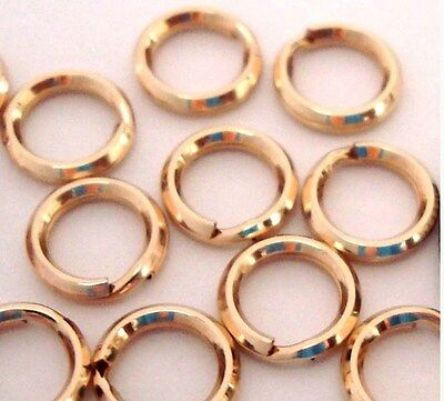 30pc 5mm 14k Yellow Gold Filled Split Ring strong jump ring Charm Connector GR35