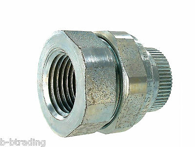 "SparkSafe UF-50S 1/2"" UNF Style Steel Female-Female Explosion Proof Union UNF105"
