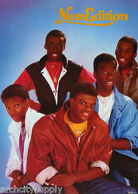Poster :music:: R & B : New Edition - All 5 Posed - Free Ship!   #3018   Rc46 S