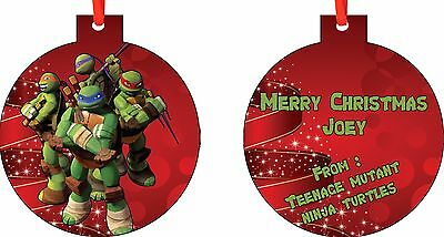 Personalized Teenage Mutant Ninja Turtles Ornament ( Add Any Message You Want)