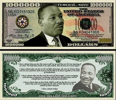 Martin Luther King Jr. - I Have A Dream Million Dollar Novelty Money