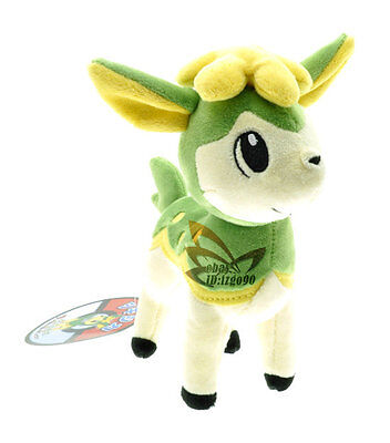 "New 7"" Green Deerling Pokemon Cute Soft Plush Toy Doll/PC2129"