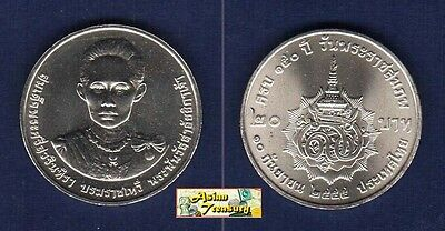 2012 Thailand 20 Baht Y-New King's Grand Mother Savang Vadhana Coin Unc (#54)
