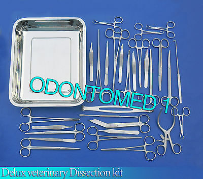 Delux veterinary Dissection kit Surgical Instruments High Grade,DS-1038