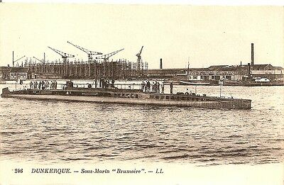 "dunkerque  sous marin ""brumaire"""