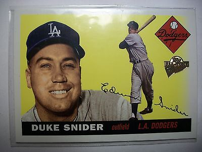 2003 Topps All-Time Fan Favorites Auto #140- Duke Snider, Los Angeles Dodgers