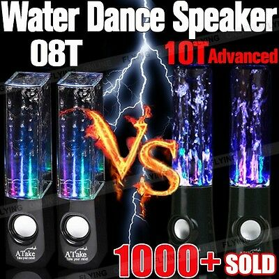 Water Dancing Speakers Audio Speaker USB POWERED LED DANCE Fountain PC iPod MP3