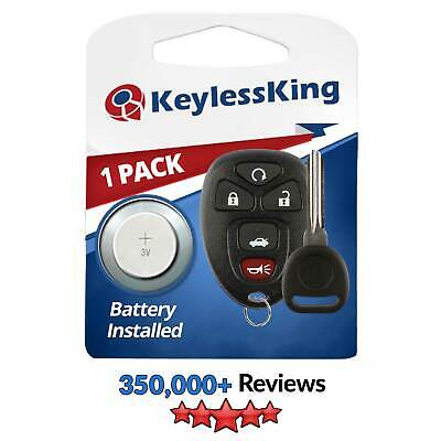 New Replacement Keyless Entry Remote Key Fob Clicker + Uncut Ignition Key