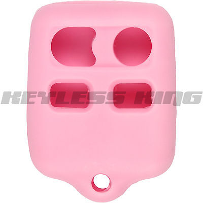 New Pink Keyless Entry Remote Key Fob Clicker Case Skin Jacket Cover Protector