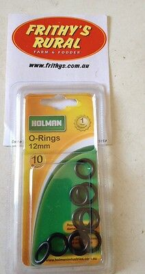 """HOLMAN SNAP FITTING """"O"""" RINGS 12mm PACK OF 10 STOP THAT LEAKY TAP FITTING MPO12"""