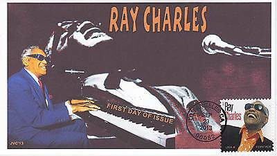 Jvc Cachets - 2013 Ray Charles First Day Cover Fdc - Los Angeles, Ca Cancel #2