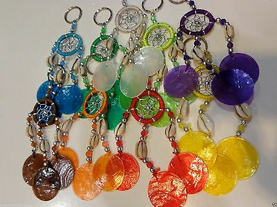 Capri Shell Mini Dream Catcher Keyring with Beads