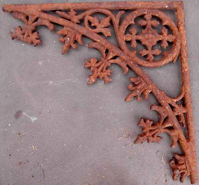 Repaired Victorian Cast Iron Lace Corner Piece Original Heavy Metal Adelaide Old