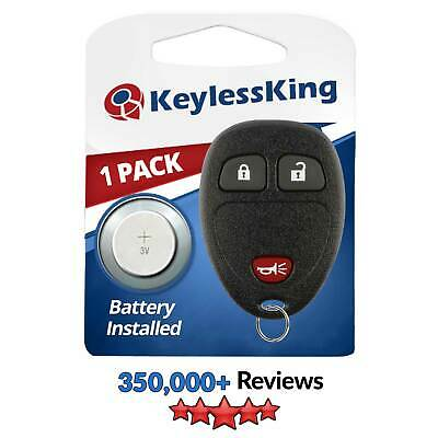 New Replacement Keyless Entry Remote Key Fob Clicker Transmitter for 15777636