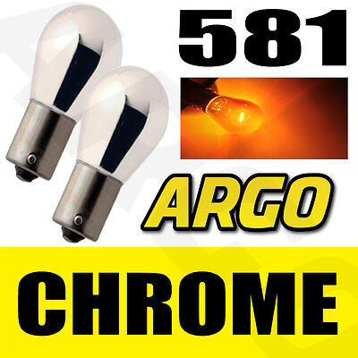 CHROME SILVER AMBER 581 BAU15S FRONT INDICATOR BULBS Mercedes-Benz VITO Bus W639