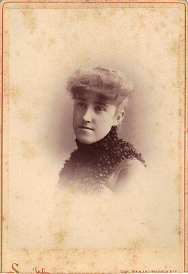 Late 19th Century  Woman Cabinet Photo
