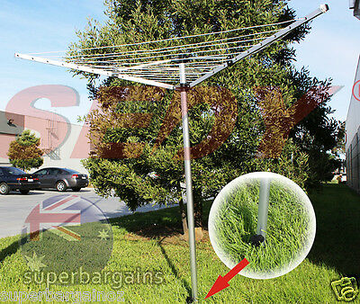 30m 9-Line Adjustable Outdoor Clothes Dryer Foldable Folding Clothesline 3 Arms