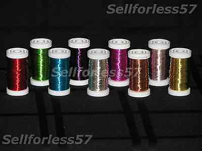 Florist Floral Spool Iron Wires Craft Jewelry 24 Gauge 164 ft Colors, Metal wire