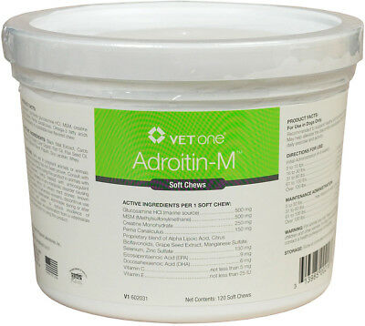 Adroitin-M Joint Soft Chews for Dogs 120ct