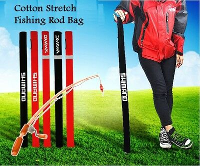 New Cotton Stretch Fishing Rod Bag Pole Cover Fits Length Max 160cm Tackle Carry