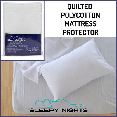 Love2Sleep POLY COTTON QUILTED MATTRESS PROTECTOR - ALL SIZES
