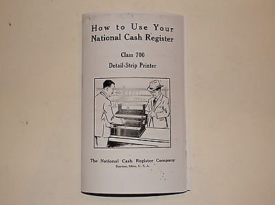 """""""how To Use"""" Your Antique National Cash Register All Metal Class 700 Ncr"""