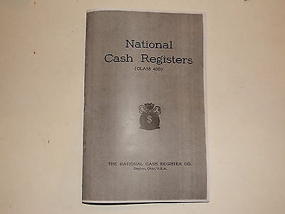 "Antique National Brass Cash Register ""400 Class Book"" Shows All Models Ncr"