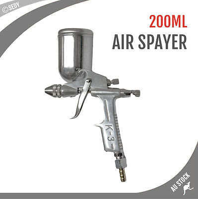 HVLP Touch Up Air Spray Gun Gravity Feed Barbed Air Paint Sprayer 600ml Painting