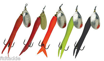 Mepps Aglia Flying 'c' Spinner Fishing Lure Silver Blade Salmon Trout Pike Perch