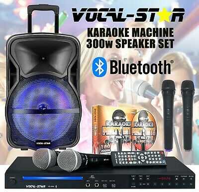 Vocal-Star Vs-1200 Cdg Hdmi Bluetooth Karaoke Machine Player 2 Mics & 1200 Songs