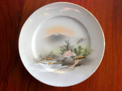 Set 6 Antique Japanese Porcelain Saucers Plate Charger Wwii Period Made In Japan