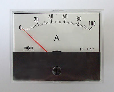 R59 DC ammeter for use with shunt 0-100amps     R59100AS