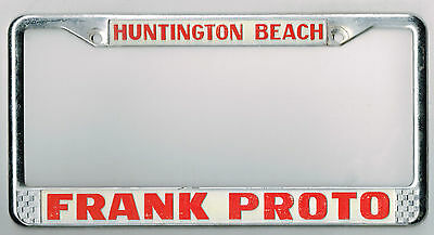 huntington beach california lincoln mercury vintage dealer license plate frame