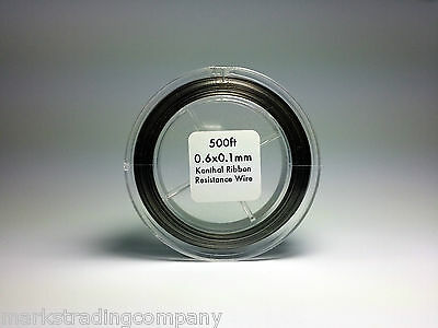 Flat Ribbon Kanthal A1 Wire 500ft Roll 0.6mm X 0.1mm 7.68 ohms/ft Resistance