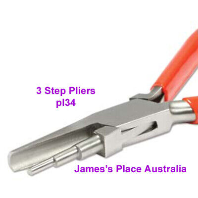 Round Hollow Pliers - 3 step stages for bending & shaping wire & flat metal
