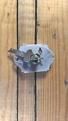 Vintage Chest, Cabinet, Drawer or Locker Lock Old with Original Key