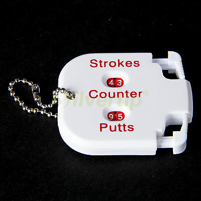 New White Golf Stroke Shot Putt Two Digits Display Score Counter Scoring Keeper