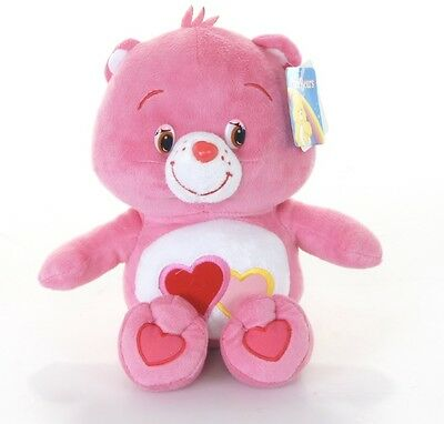 "New Official 12/"" Care Bear Love-a-Lot Bear Soft Plush Toy"