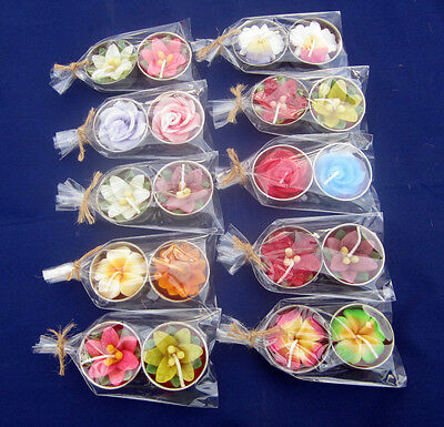 Random Lot Wholesales  Aromatic spa candle handcraft gift  flower (Thai Handmad)