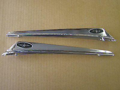New Repro. 1963 Ford Galaxie Front Fender Ornaments Emblems Guides Spears
