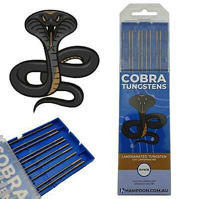 1.6mm 1.5% Lanthanated Gold Tip TIG Tungsten electrodes - Pack of 10 - WL15