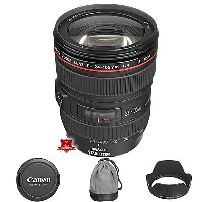 NEW Canon EF 24-105mm f/4L IS USM Lens for EOS Rebel 1D Mark IV 60D DSLR Cameras