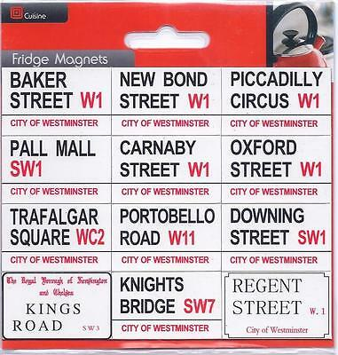 12 London Fridge Street Road Signs Magnets Souvenirs Westminister UK England GB
