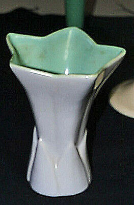 Excellent GMB Catalina Pottery Star Vase Light Mauve  Matte Green Mint Condition