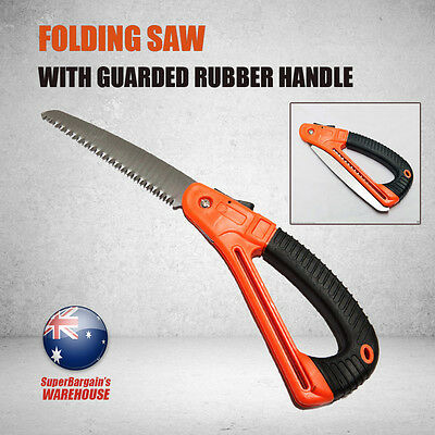 Folding Hand Saw Foldable Pruning Blade Guarded Hardening Rubber Handle Camping