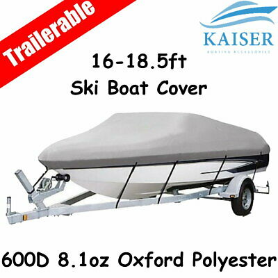 Premium Heavy Duty 600D 16-18.5ft 4.8-5.6m Marine Grade Trailerable Boat Cover G