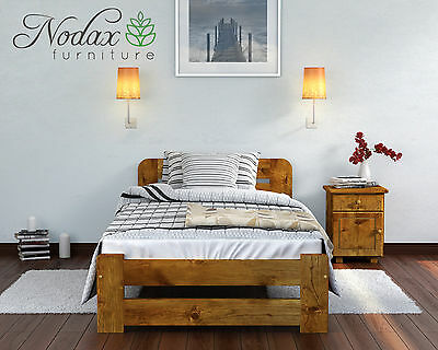 "*NODAX* Wooden Furniture Solid Pine Single 3ft Bed Frame ""ONE"" Various Colour"