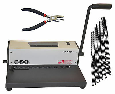 Metal Based Coil Spiral Binding Machine,Electric Coil Binder,Plier+FREE 200 Coil